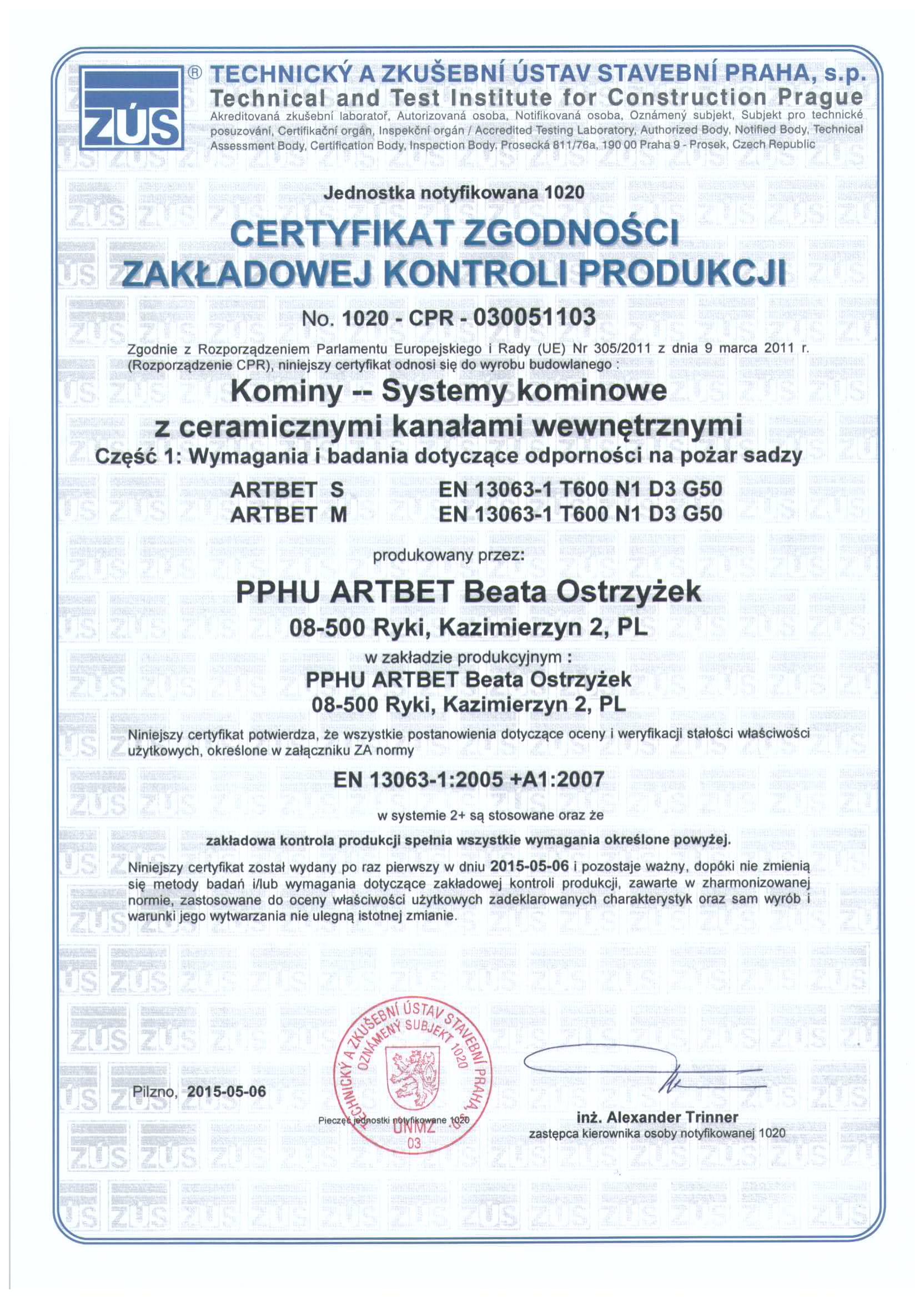 Certyfikat kominy - pożar spalin-1